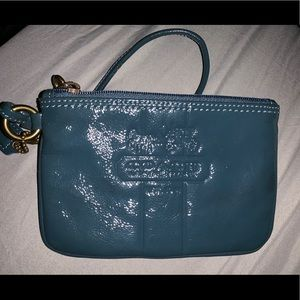 Coach coin purse with straps
